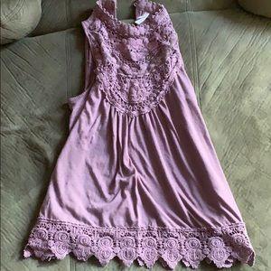 Xhilaration Tops - Purple lacy tank top!